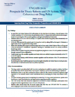 UNGASS 2016: Prospects for Treaty Reform and UN System-Wide Coherence on Drug Policy